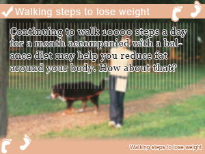 Walking steps to lose weight