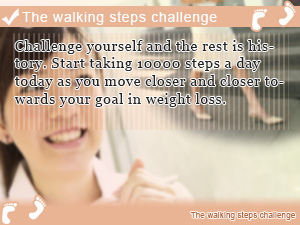 The walking steps challenge