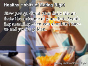 Healthy Habits of Eating Right