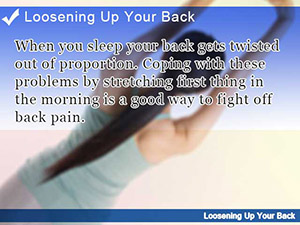 Loosening Up Your Back