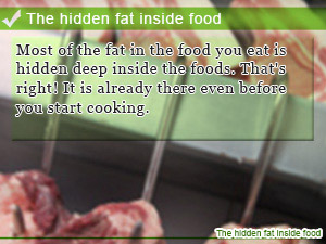 The hidden fat inside food