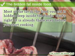 The hidden fat inside food