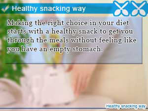 Healthy snacking way