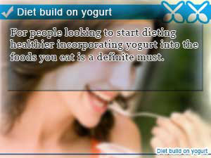 Diet build on yogurt