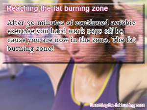 Reaching the fat burning zone