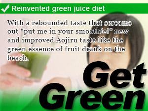 Reinvented green juice diet