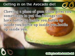 Getting in on the Avocado diet