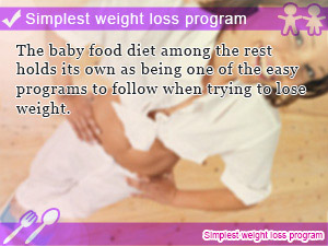 Simplest weight loss program