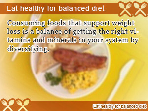 Eat healthy for balanced diet