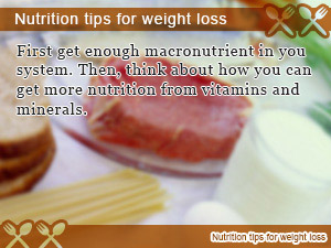 Nutrition tips for weight loss
