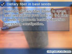 Dietary fiber in basil seeds