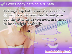Lower body bathing sitz bath