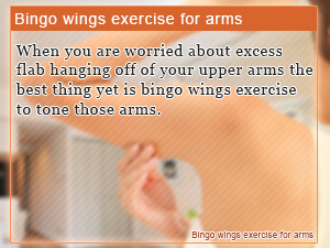 Bingo wings exercise for arms