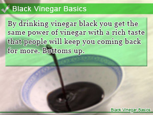 Black Vinegar Basics