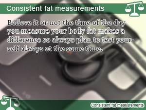Consistent fat measurements