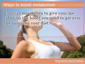 Ways to boost metabolism