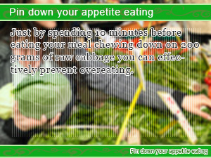 Pin down your appetite eating