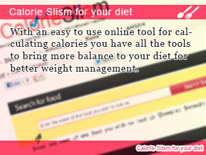 Calorie Slism for your diet