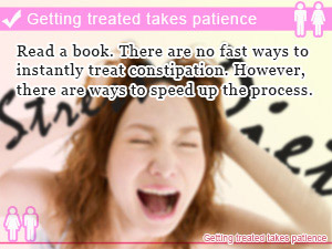 Getting treated takes patience