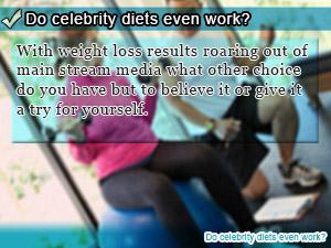 Do celebrity diets even work?