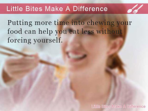 Little Bites Make A Difference
