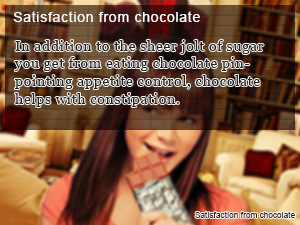 Satisfaction from chocolate