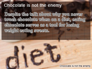 Chocolate is not the enemy