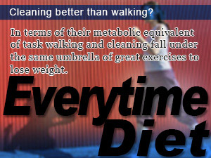 Cleaning better than walking?