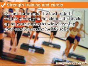 Strength training and cardio