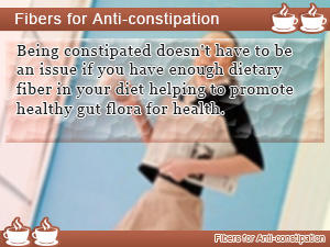 Fibers for Anti-constipation