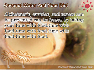 Coconut Water And Your Diet