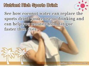 Nutrient Rich Sports Drink