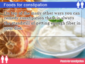 Foods for constipation