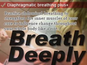 Diaphragmatic breathing plus+