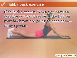 Flabby back exercise