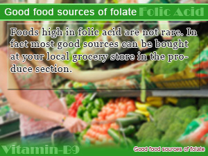 Good food sources of folate