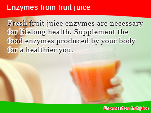 Enzymes from fruit juice
