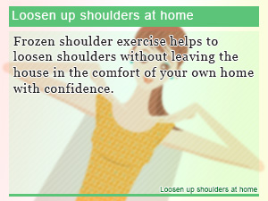 Loosen up shoulders at home