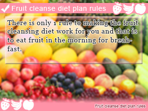 Fruit cleanse diet plan rules