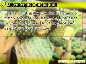 Misconception about fruit
