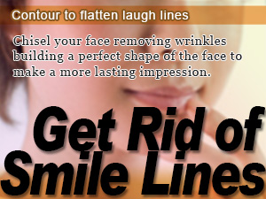 Contour to flatten laugh lines