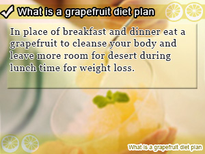 What is a grapefruit diet plan