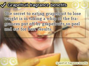 Grapefruit fragrance benefits