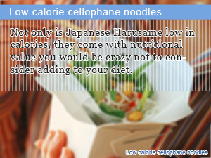Low calorie cellophane noodles