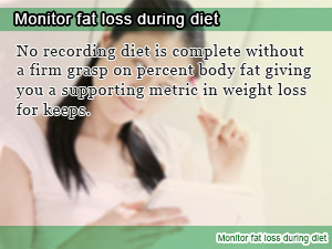 Monitor fat loss during diet