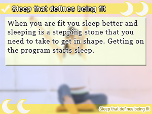 Sleep that defines being fit