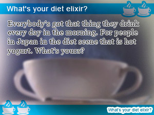What's your diet elixir?