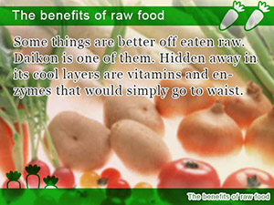 The benefits of raw food