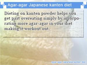 Agar-agar Japanese kanten diet
