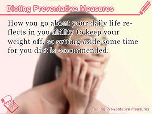Dieting Preventative Measures